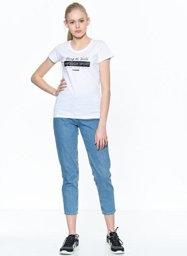 Hummel Kadın Agoptos Tişört 910432-9001 Beyaz